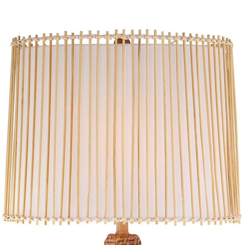 Bali Brown Rattan Table Lamp more views
