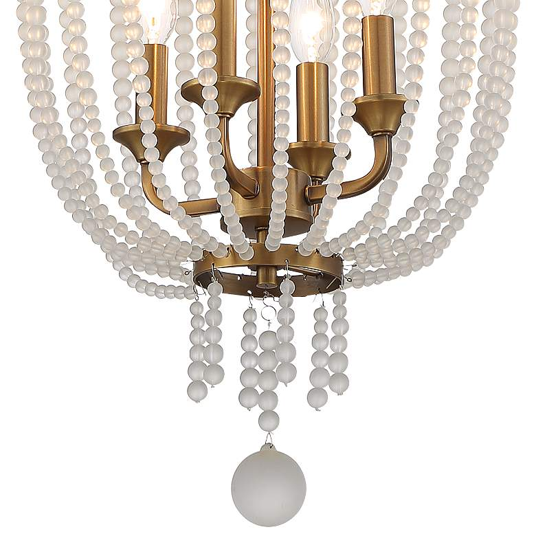 "Ava 14""W Warm Brass and Crystal 4-Light Foyer Pendant Light more views"