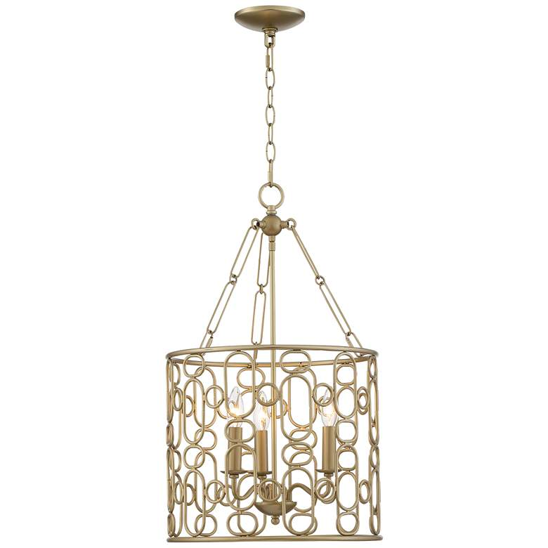 "Juliana 15"" Wide Gold 3-Light Foyer Pendant Light more views"
