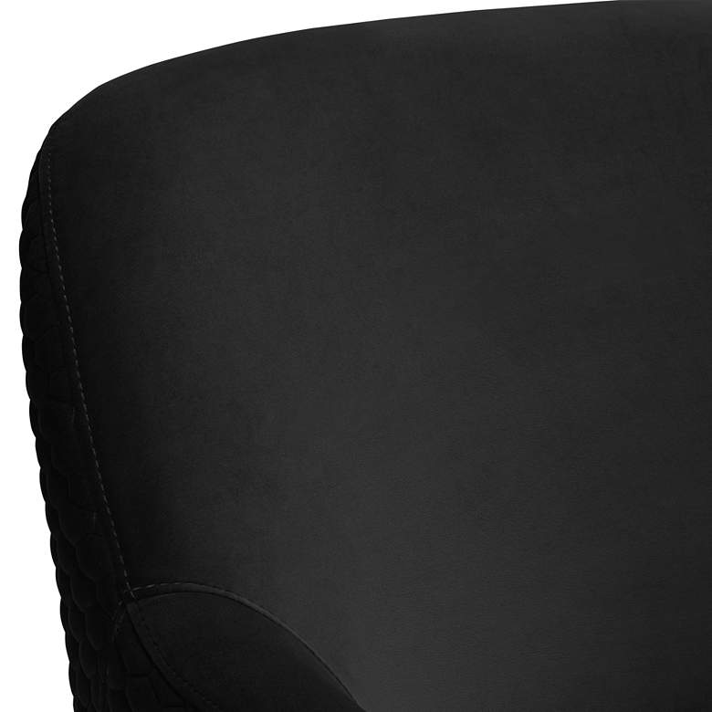 Ames Quilted Onyx Velvet Swivel Chair more views