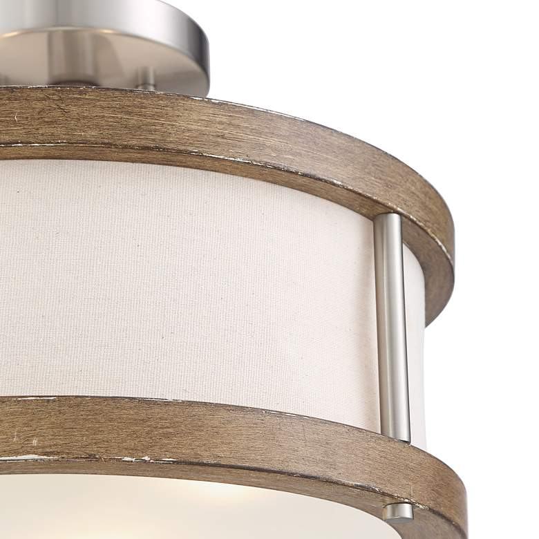 "Possini Euro Pacey 16"" Wide Ashwood 3-Light Ceiling Light more views"
