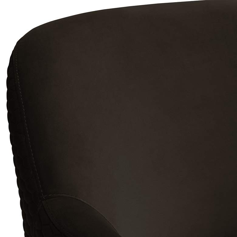 Ames Quilted Espresso Velvet Swivel Chair more views