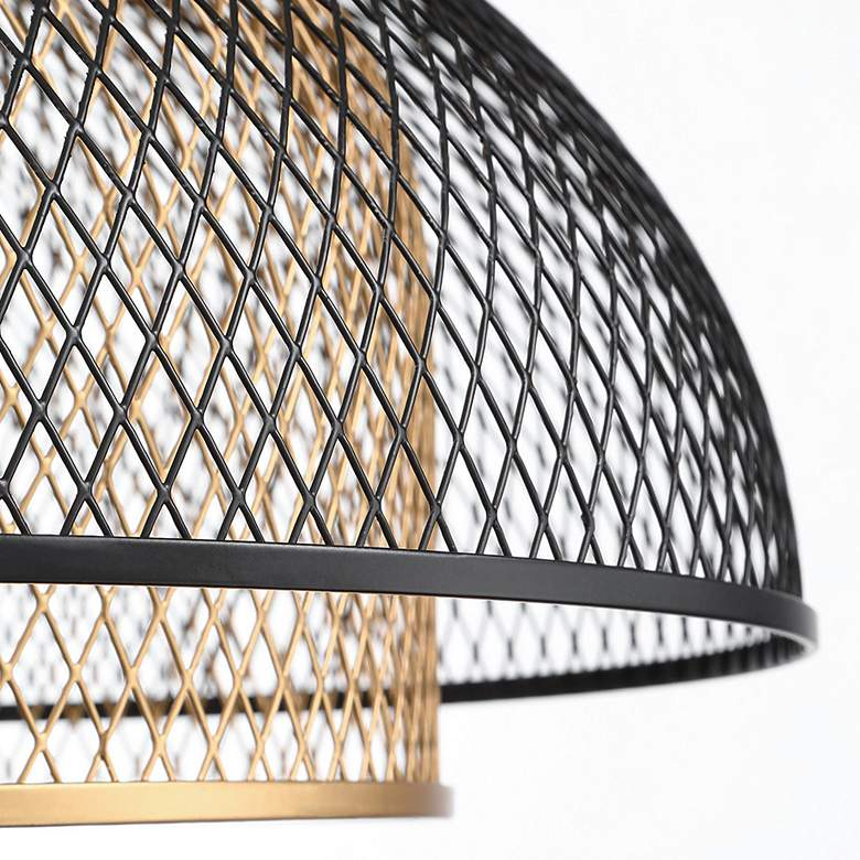 "Eurofase Kenmore 16"" Wide Black and Gold LED Pendant Light more views"