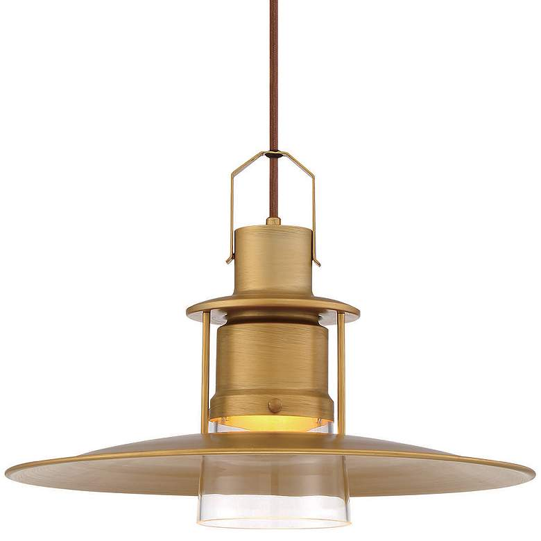 "Eurofase Lamport 11""W Brushed Brass LED Mini Pendant Light more views"