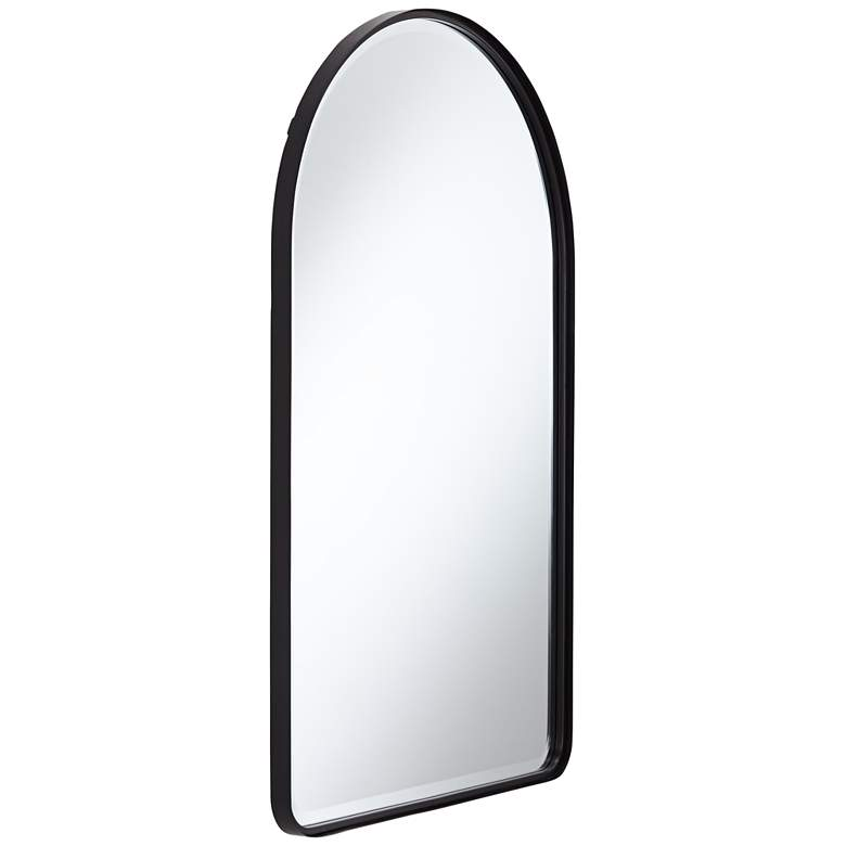"Uttermost Clara Matte Black 24"" x 39"" Arch Top Mirror more views"