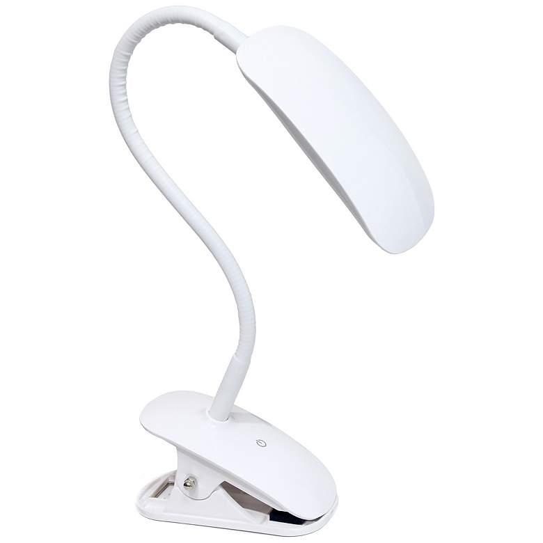 Simple Designs White Adjustable LED Rounded Clip Light more views