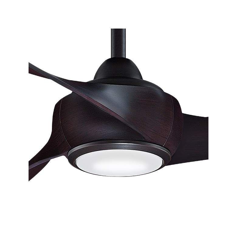 "84"" Fanimation Wrap Dark Bronze LED Damp Ceiling Fan more views"