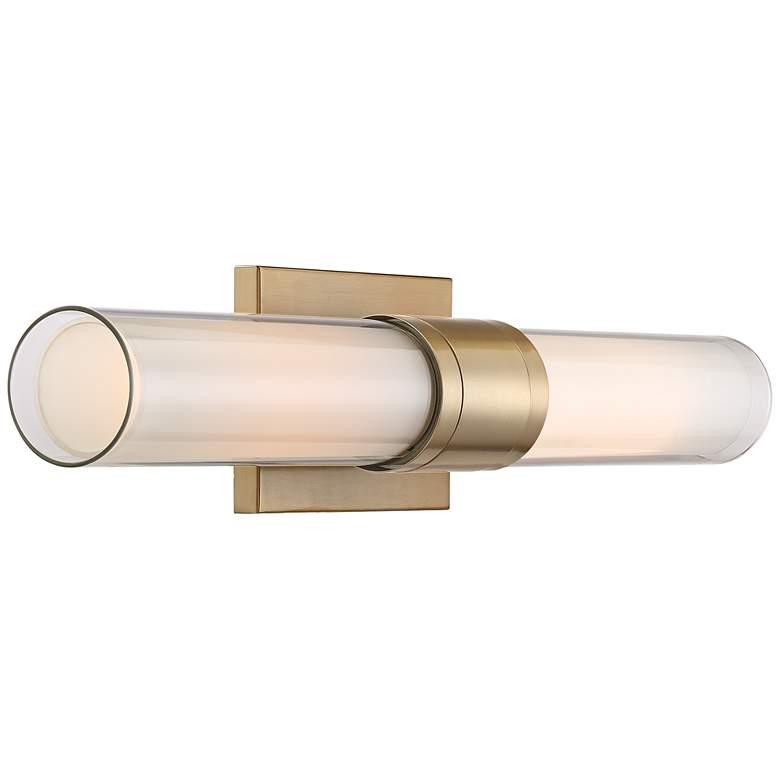 "Possini Euro Brianna 23 1/2"" Wide Brass 2-Light Bath Light more views"