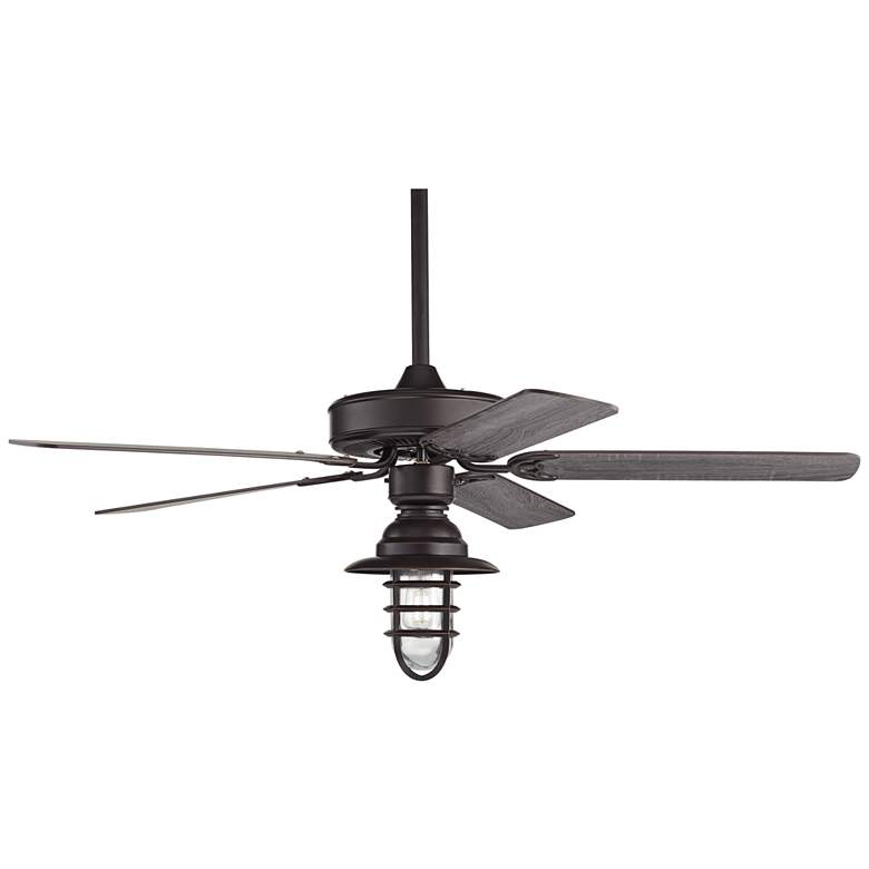 "52"" Casa Bay View Bronze Hooded Cage Damp LED Ceiling Fan more views"
