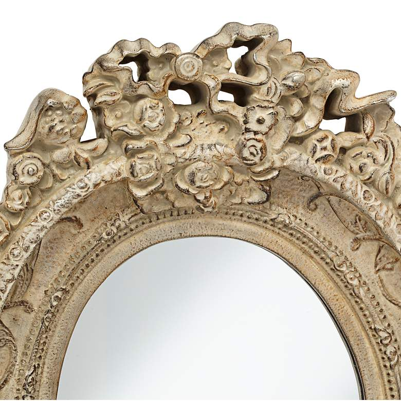 "Mansfield Park Stone Crown 12"" x 16 1/2""  Wall Mirror more views"