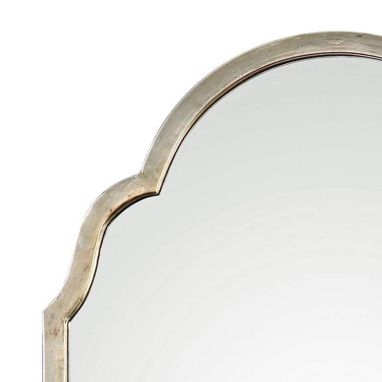 "Brayden Petit Silver 20 1/4"" x 30 1/4"" Arch Wall Mirror more views"
