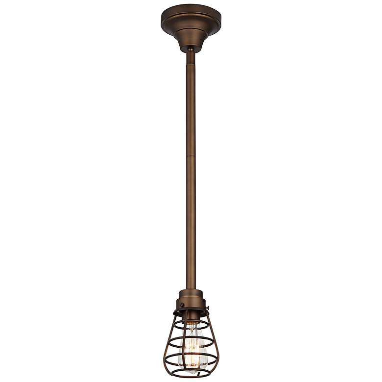 "Bendlin Industrial 5"" Wide Oil-Rubbed Bronze Mini Pendant more views"