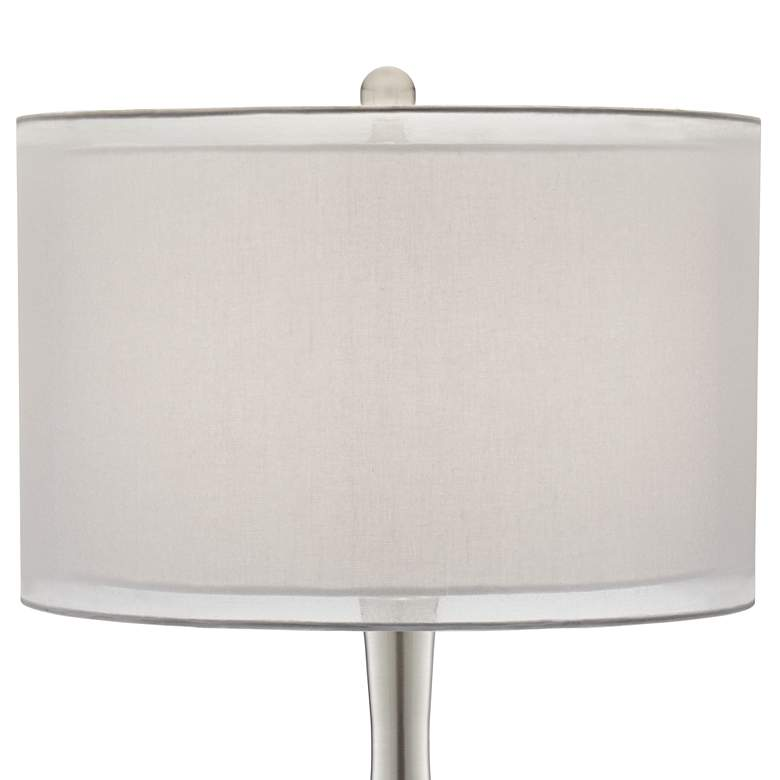 Possini Euro Swift Modern Mercury Glass Table Lamp more views