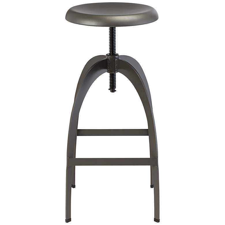 Colby Matte Gray Steel Adjustable Swivel Bar Stool more views