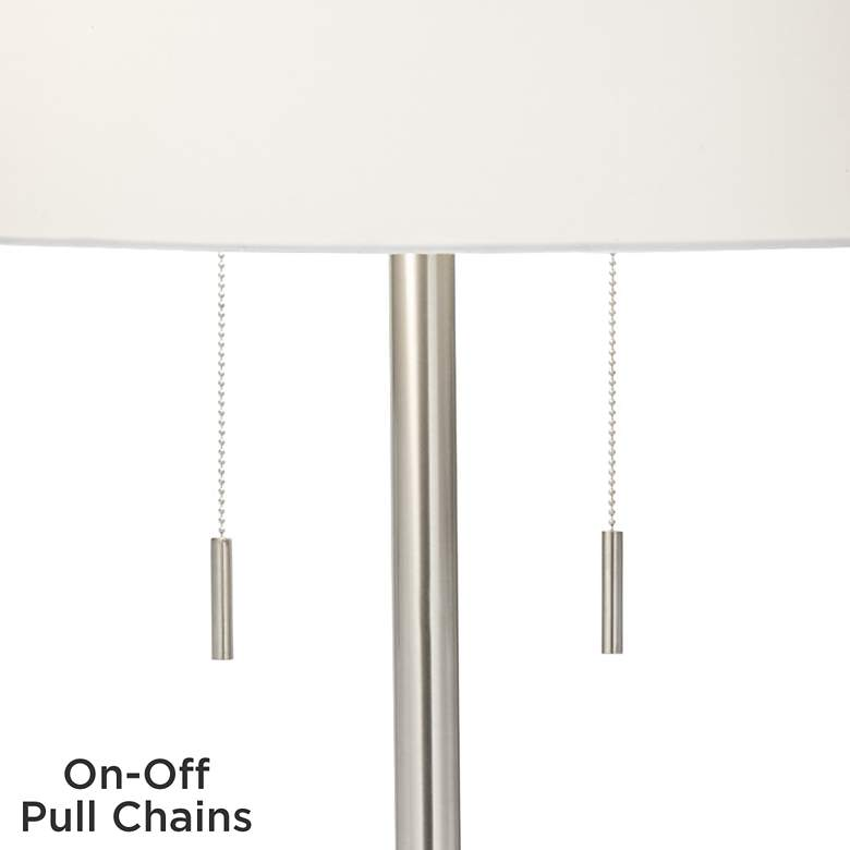Possini Euro Concierge Double Tray Floor Lamp with USB more views