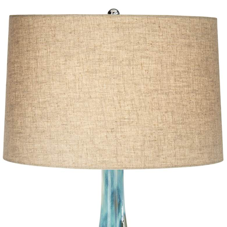 Possini Euro Kenya Blue-Green Ceramic Table Lamp more views