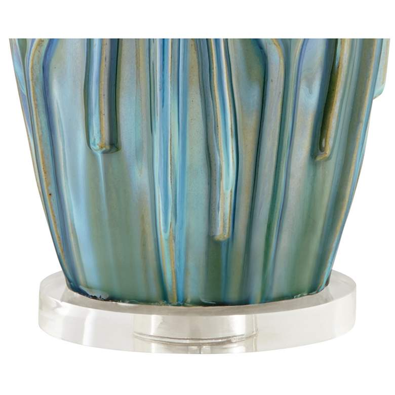 Possini Euro Eneya Blue Ceramic Table Lamp more views