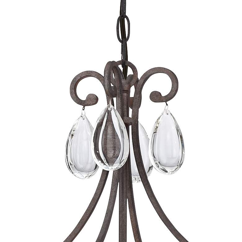 "Luba 20"" Wide Bronze Crystal 4-Light Chandelier more views"