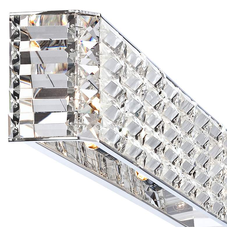 "Possini Euro Vivienne 35"" Wide Chrome and Crystal Bath Light more views"