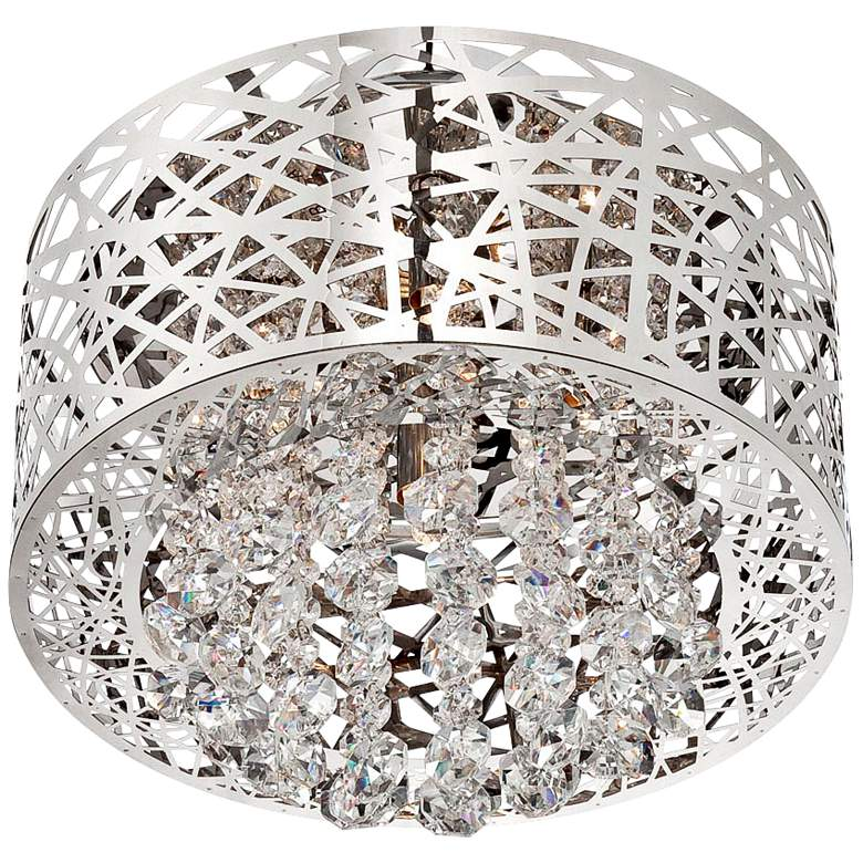 "Lite Source Benedetta 14"" Wide Cut Crystal Ceiling Light more views"