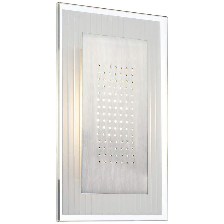 "Lite Source Flynn LED 12"" High Steel Wall Sconce more views"
