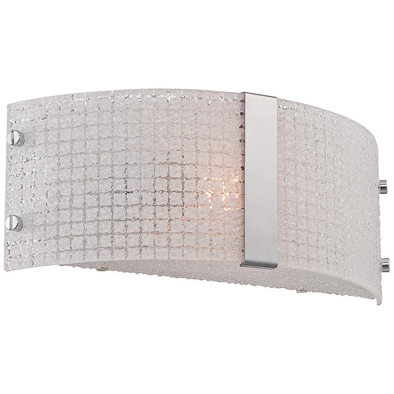 "Lite Source Maso 12"" Wide Textured Quartz Wall Sconce more views"