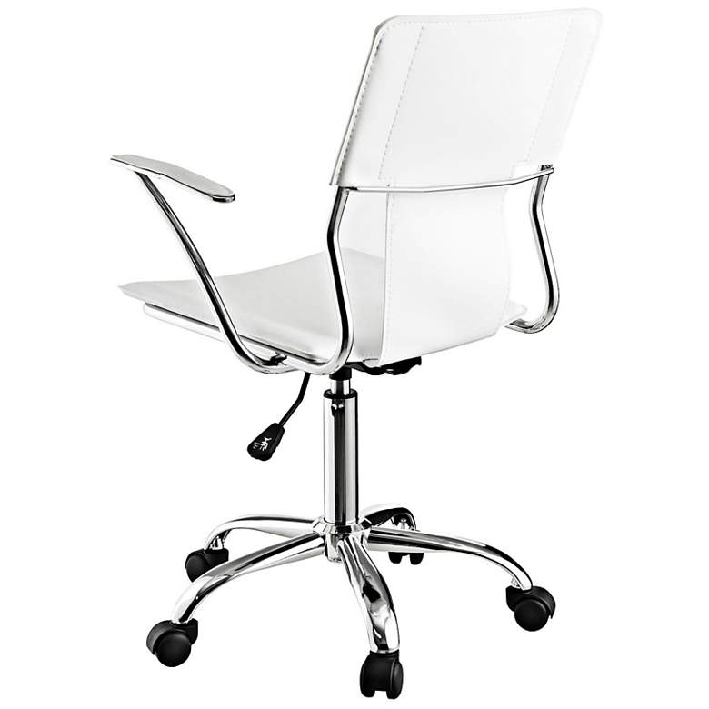 Studio Chrome White Swivel Office Chair more views
