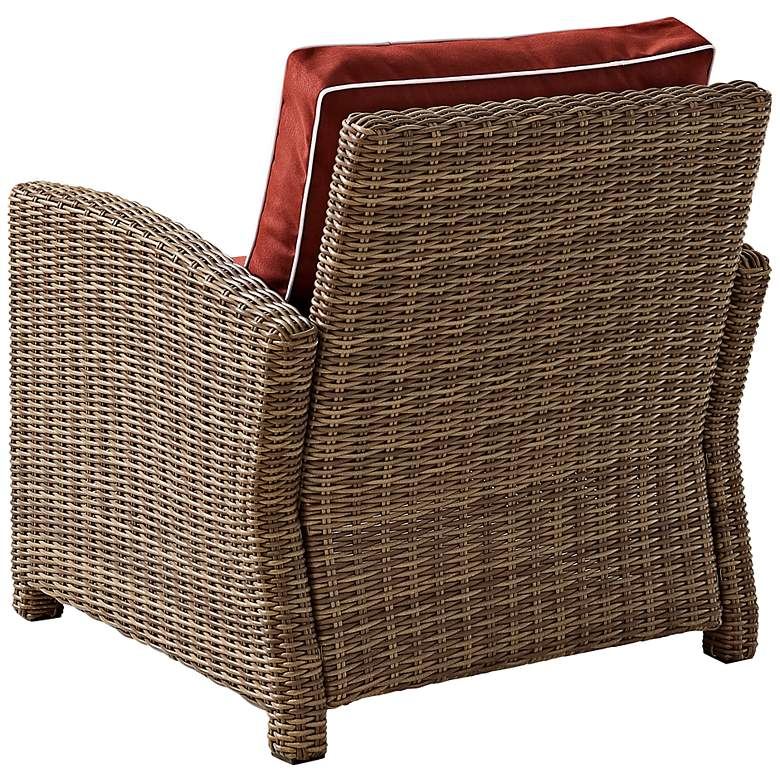 Bradenton Wicker Sangria Cushion Outdoor Armchair more views