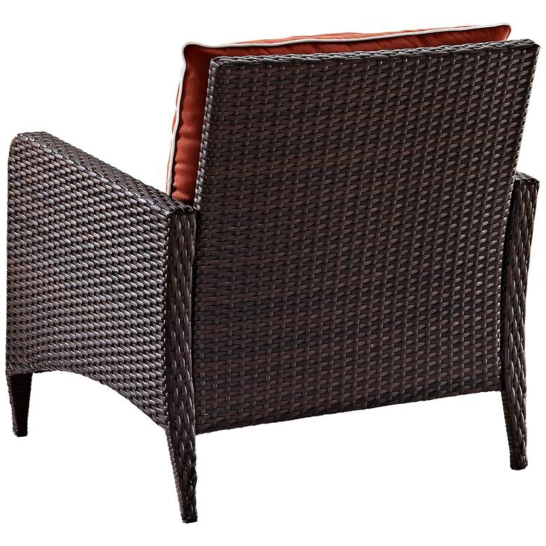Kiawah Sangria Outdoor Wicker Armchair more views