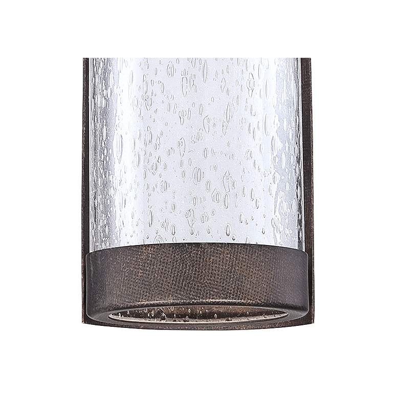 "Rames Seedy Glass 16 1/4""H Bronze LED Outdoor Wall Light more views"
