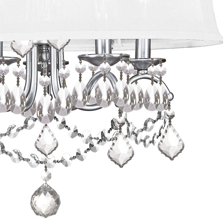 "New Castle 20"" Wide Brushed Nickel Chandelier more views"