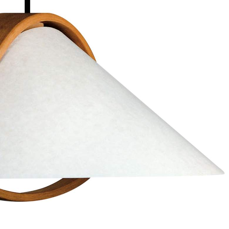 "Justice Design Domus™ Arta 22"" W Beech Wood Pendant Light more views"
