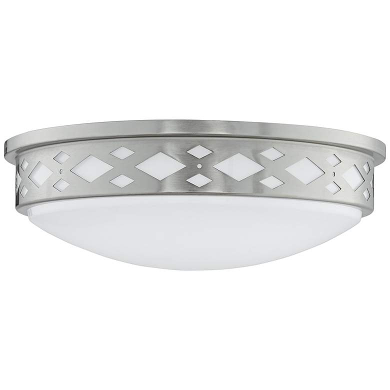 "Fitzgerald 14""W Brushed Nickel Diamond LED Ceiling Light more views"