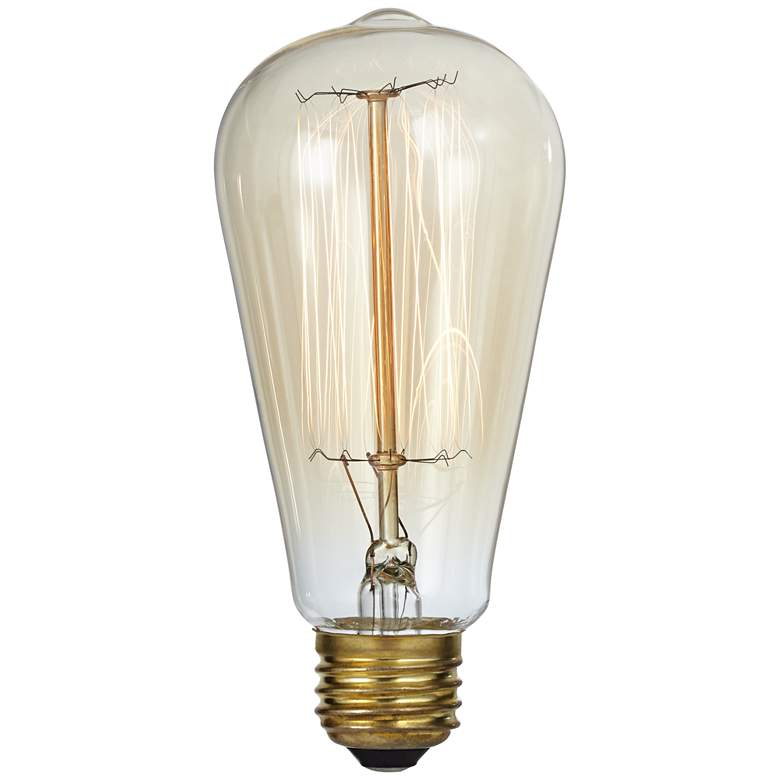 Nostalgic Amber 60 Watt Edison Style Light Bulb more views