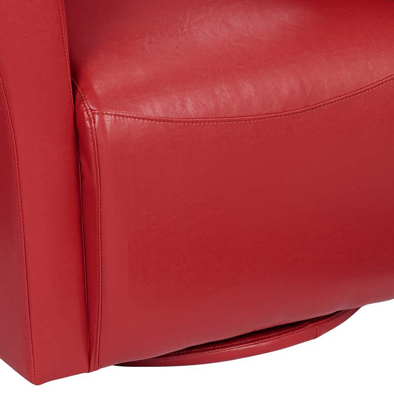 Rocket Rivera Red Swivel Accent Chair more views