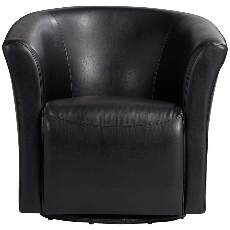 Rocket Rivera Black Swivel Accent Chair more views