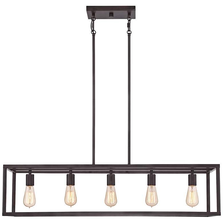 "New Harbor 38"" Wide Bronze Kitchen Island Light Chandelier more views"