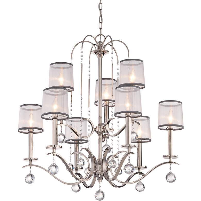 "Quoizel Whitney 32"" Wide Imperial Silver Chandelier more views"