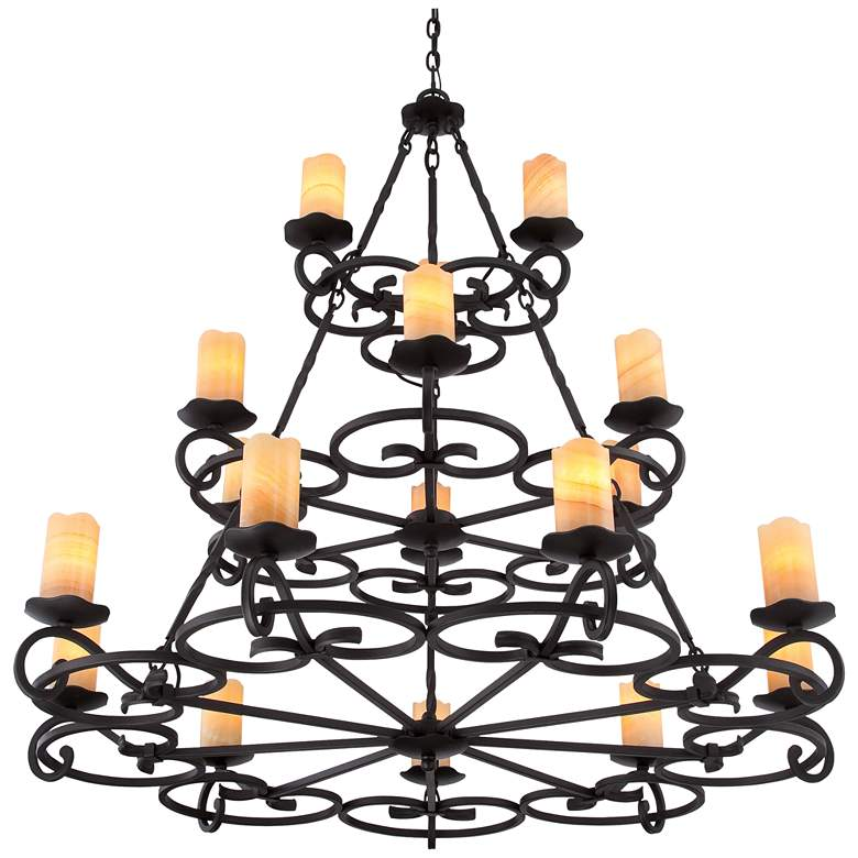 "Quoizel Armelle 48"" Wide Imperial Bronze Chandelier more views"