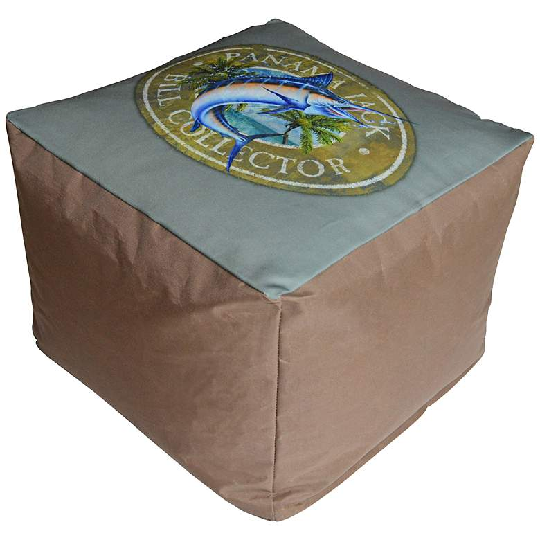 Panama Jack Bill Collector Indoor/Outdoor Pouf Ottoman more views