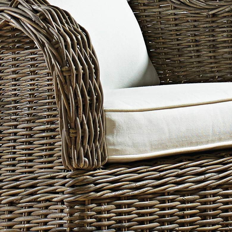 Panama Jack Exuma Kubu Gray Wicker Occasional Chair more views