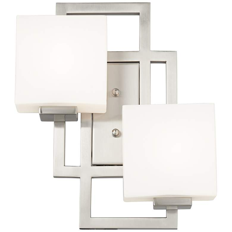 "Lighting on the Square 15 1/2""H Brushed Nickel Wall Sconce more views"