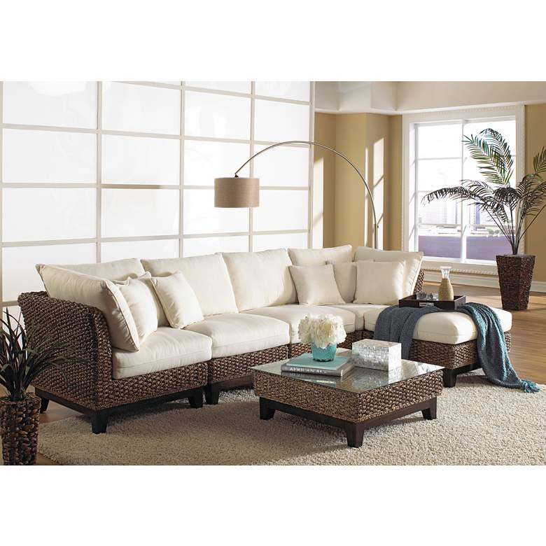 Panama Jack Sanibel Rattan 6-Piece Sectional Seating Set more views