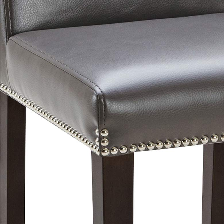 "Brooke 25 1/2"" Gray Bonded Leather Counter Stool more views"