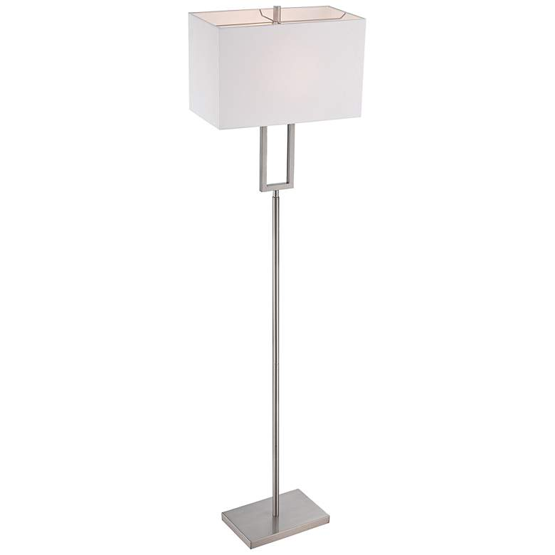 "Lite Source Fiadi 61"" HIgh Polished Steel Floor Lamp more views"