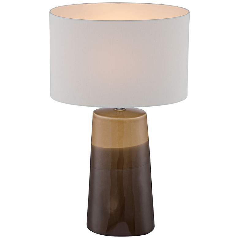 Lite Source Baker Gradient Coffee Ceramic Table Lamp more views