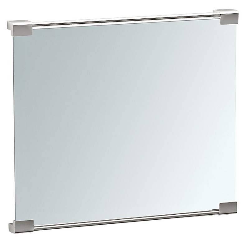 "Gatco Fixed Mount Satin Nickel 19 1/2"" x 25 1/2"" Wall Mirror more views"