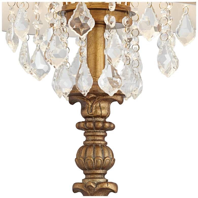 Duval Aged Gold Crystal Candlestick Table Lamp more views
