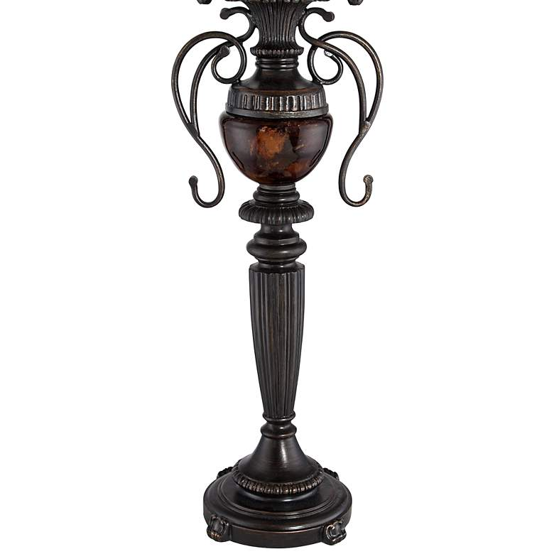 Edwardian Tortoise Shell Font Urn Table Lamp by Regency Hill more views