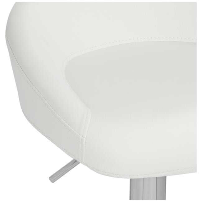Fargo White Faux Leather Adjustable Swivel Bar Stool